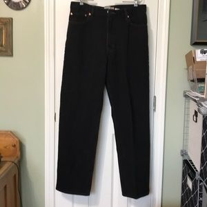 Levi Relaxed Fit 550 Black Jeans W36 L34. 5 Pocket
